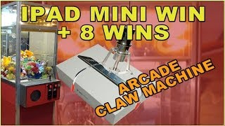 Winning an IPAD MINI & 8 Prizes Betson Big Choice Claw Machine  Arcade Game Room