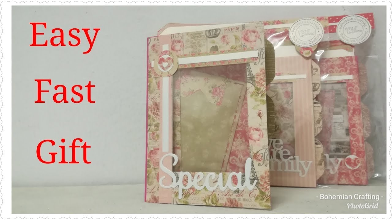Craft fair idea DIY /teacher's /cooworkers gift ideas / Mini Photo folder