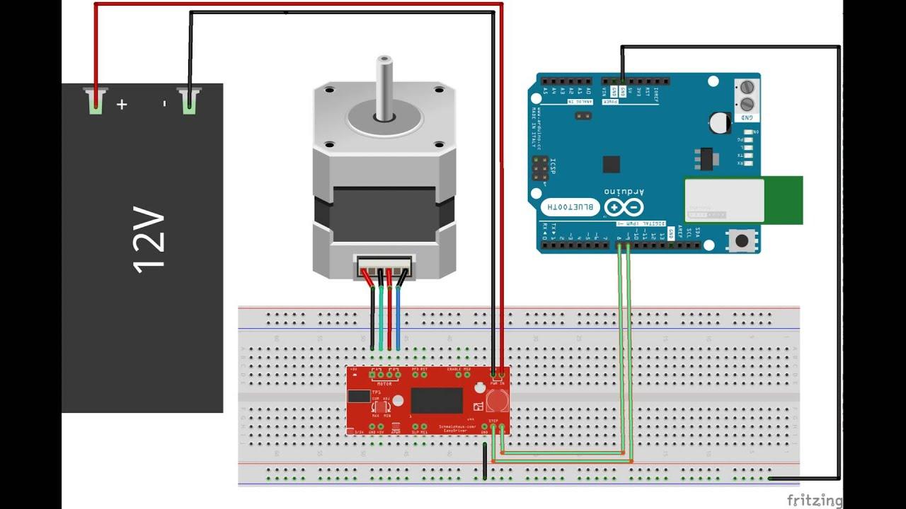 Arduino nema motor paso a easydriver youtube