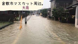 豪雨  岡山県倉敷市中庄 マスカットスタジアム周辺。 thumbnail