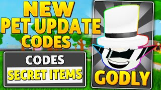 NEW *INSANE UPDATE PET CODES* in LAWN MOWING SIMULATOR (UPDATE CODES) (ROBLOX)