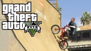 ★ GTA 5 - Half-Pipe & BMX Bike Locations w/ Gameplay