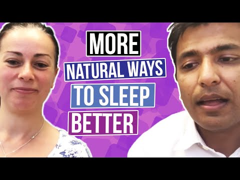 More natural ways to sleep better