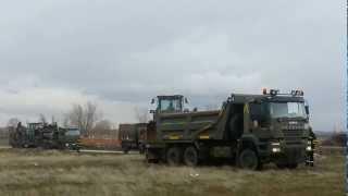 Llegada de la UME ( Unidad Militar de Emergencias a Segovia) Simulacro de catástrofe 4/3/2013