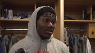Kerryon Johnson on playing tough to get past the Vikings defense