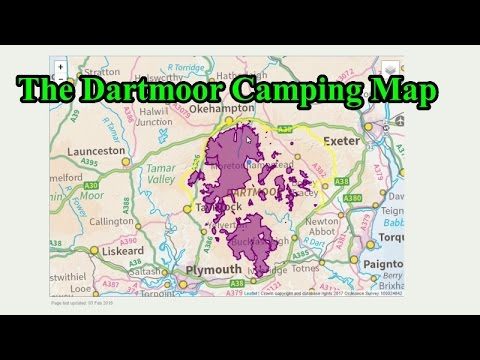 Dartmoor Wild Camping Map | Map Of The World