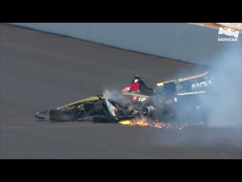 Raw Video: James Hinchcliffe crashes during 2019 Indy 500 Qualifying