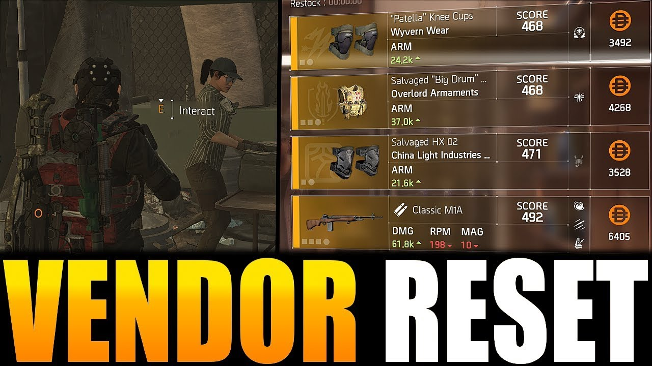 The Division 2 - VENDOR RESET | GREAT WEAPONS, GEAR & MORE! (YOU NEED TO  BUY)