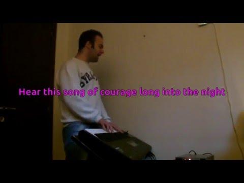 Manowar - Courage KARAOKE PIANO