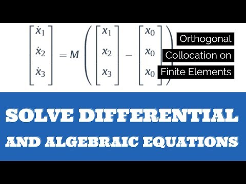 Solve DAEs with Orthogonal Collocation on Finite Elements