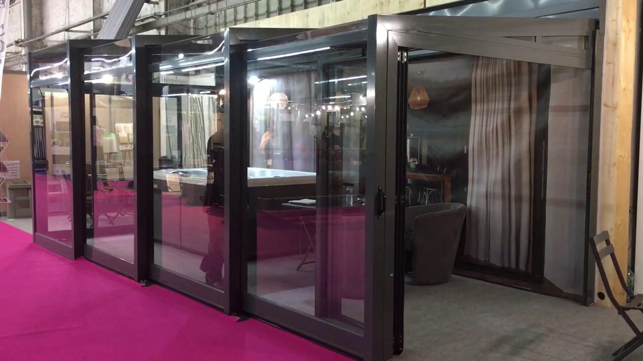Veranda Metal Et Verre abri de terrasse en verre sécurit 33/2 véranda rétractable