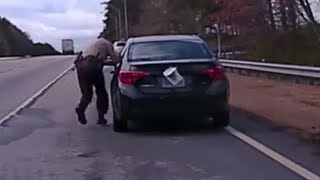 Deputy Thrown to the Ground and Dragged by Suspect's Car During Traffic Stop