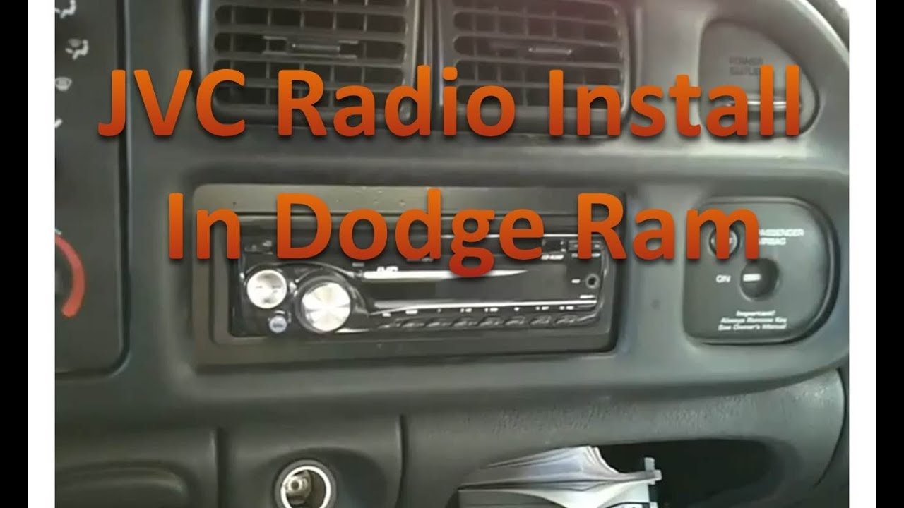 installing a jvc radio dodge ram youtube rh youtube com  1999 dodge ram 2500 radio wiring diagram
