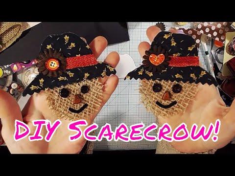 DIY Easy Scarecrow Embellishment - No Sew! Part 1 Cute Creatures!