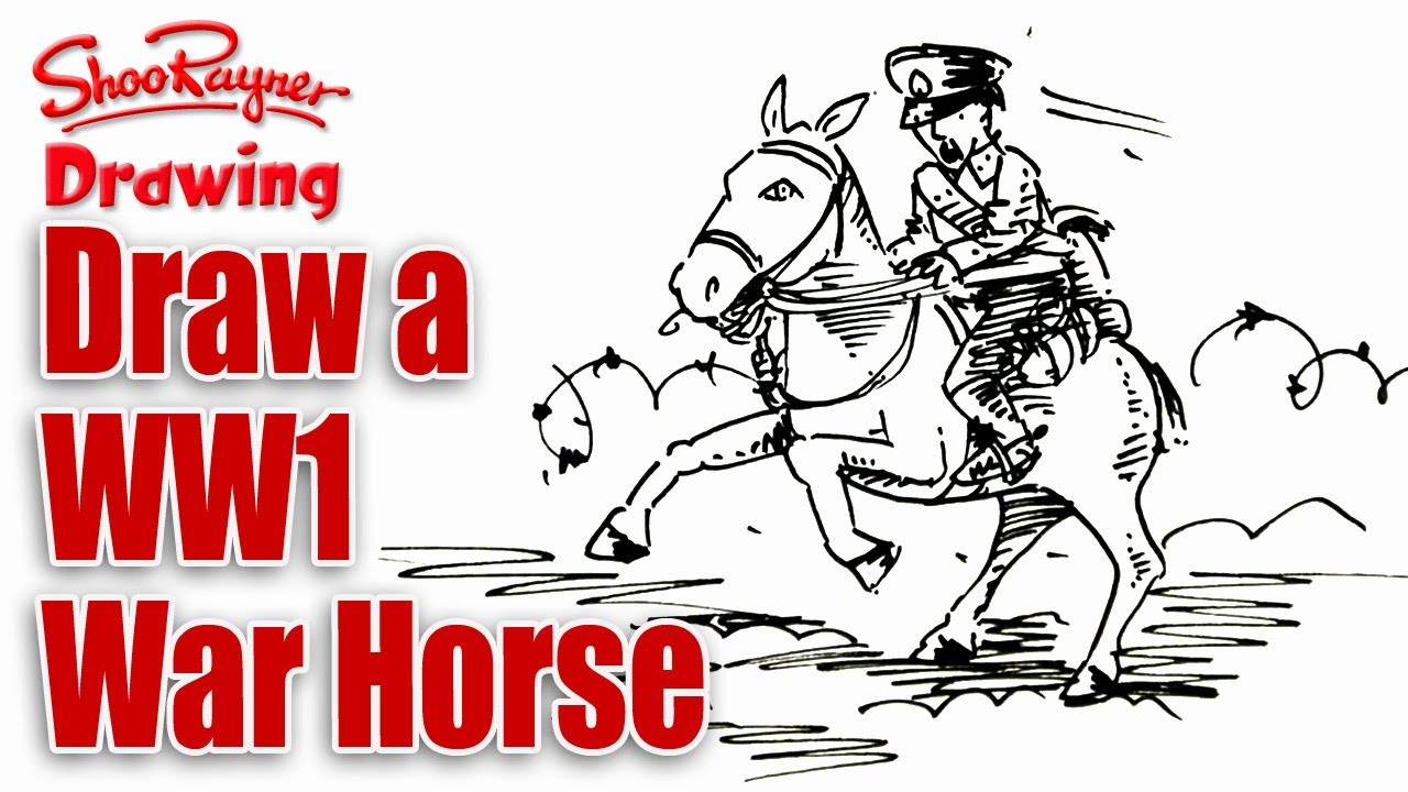 How To Draw A War Horse
