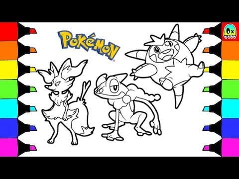 Pokemon Coloring Pages Kalos Starters Evolution 2 Colouring Book Fun For Kids
