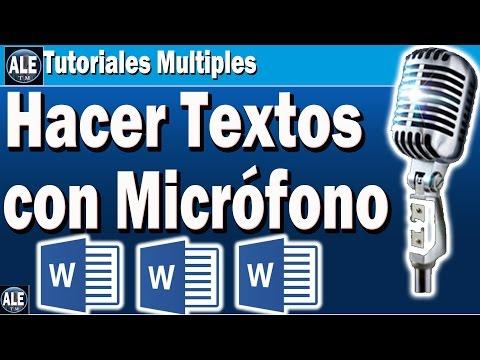 Ya No Teclees Textos En Word Ahora Puedes Dictar Con Microfono Mas Rapido