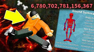 I Broke SIX QUADRILLION BONES... (my bones are powder...) | Roblox Broken Bones