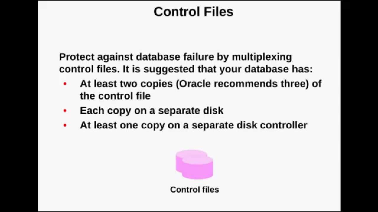 Control files oracle