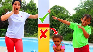 Leah Wants to be Taller to Get in the Pool