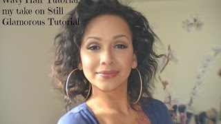 Messy/Wavy Short Hair tutorial. A take on Still Glamorous Hair tutorial.