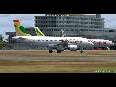 Air Senegal  A319  Lagos Murtala Mohammed Airport  DNMM  Landing  FS9