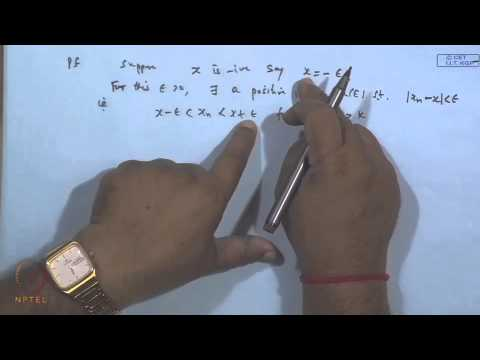 Mod-16 Lec-18 Fundamental theorems on limits, Bolzano