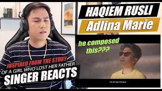 Haqiem Rusli - Adlina Marie (Official Music Video)   SINGER REACTION