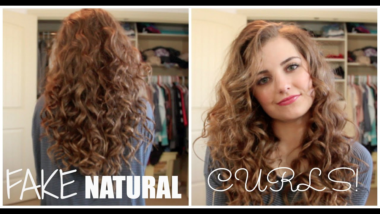 How To Style Frizzy Curly Hair Without Heat Amazing How To Fake Naturally Curly Hair  Youtube