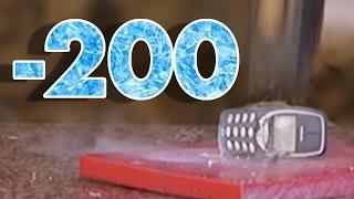 iPhone ve Nokia 3310'un Üstüne Sıvı Nitrojen Döktük (-200 Derece)