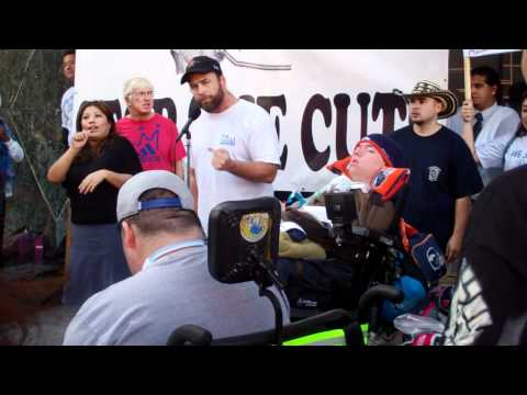 Jim Miller, teacher, author, & activist speaks at Occupy San Diego rally to end budget cuts