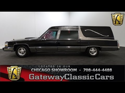 1990 Cadillac Brougham Hearse Gateway Classic Cars Chicago #1187