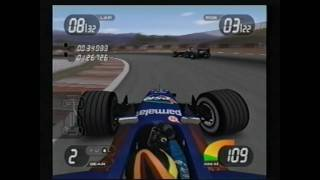 PlayStation2 Formula One 2001 - Spain (excerpts of half distance race, with best lap)