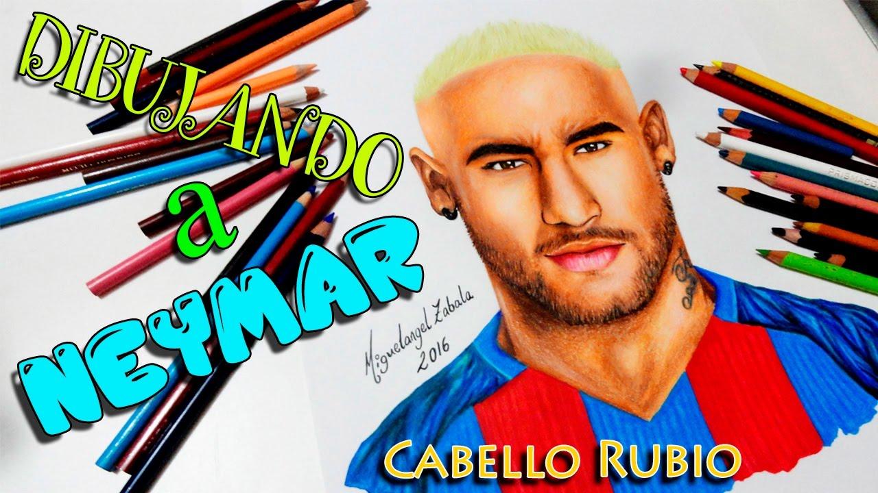 DIBUJO DE NEYMAR JR CABELLO RUBIO  Drawing Neymar Jr