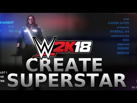 WWE 2K18 Create a Superstar: Adorable Aaron Gates!