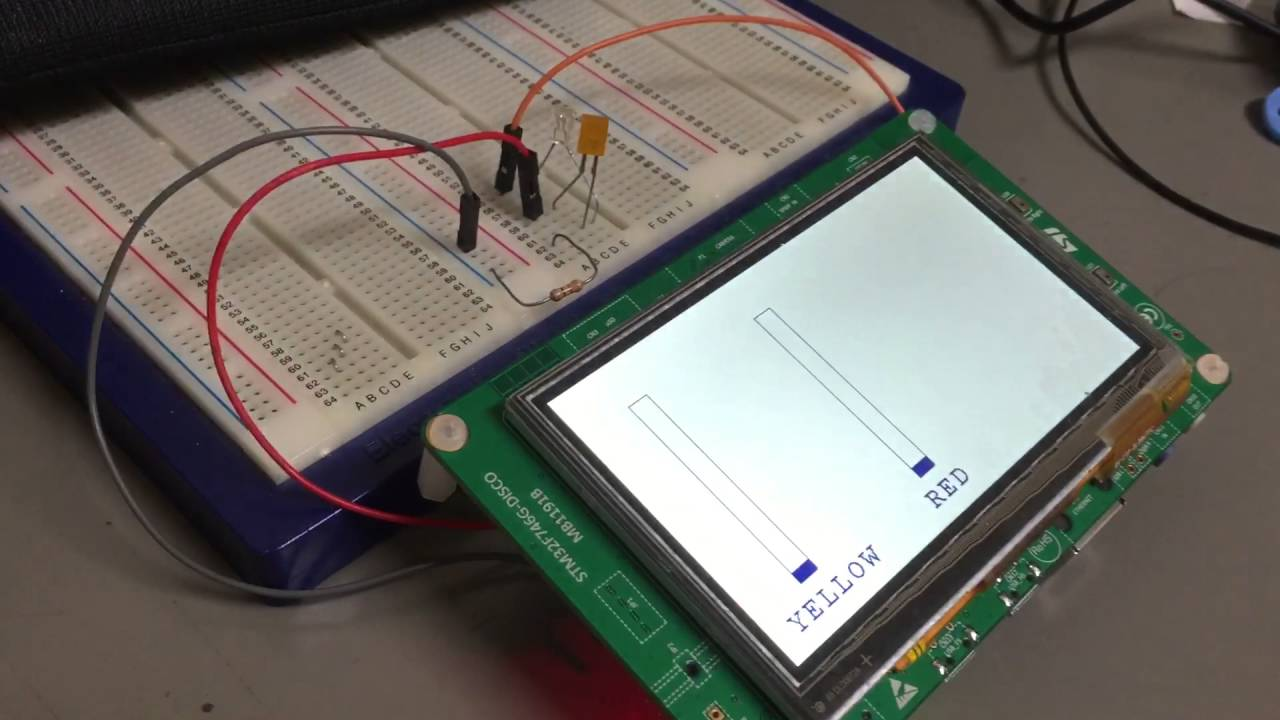 Stm32f7- Disco Touch panel application demo