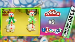 Hasbro Play-doh Vs Amos Idough, What's Better? Sculpt Two Snowman To Compare, Modeling Clay Figures
