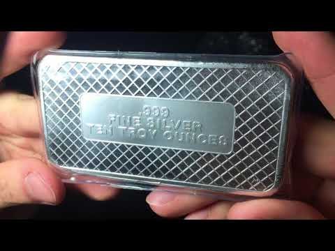 Quick Silver Bar Unboxing From JM Bullion.