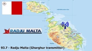 MALTA: FM RADIO STATIONS on Malta & Gozo