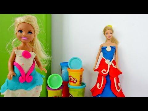 Одевалки #Барби 👗 Платье Плей До 💃Собираемся на Бал 👠 Игры #Барби для девочек