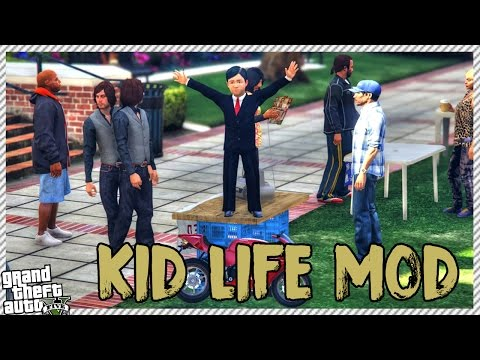 GTA 5 Kid Life Mod - Going to School | Buying New Toy Super Bike (GTA 5 REAL LIFE KID MOD)