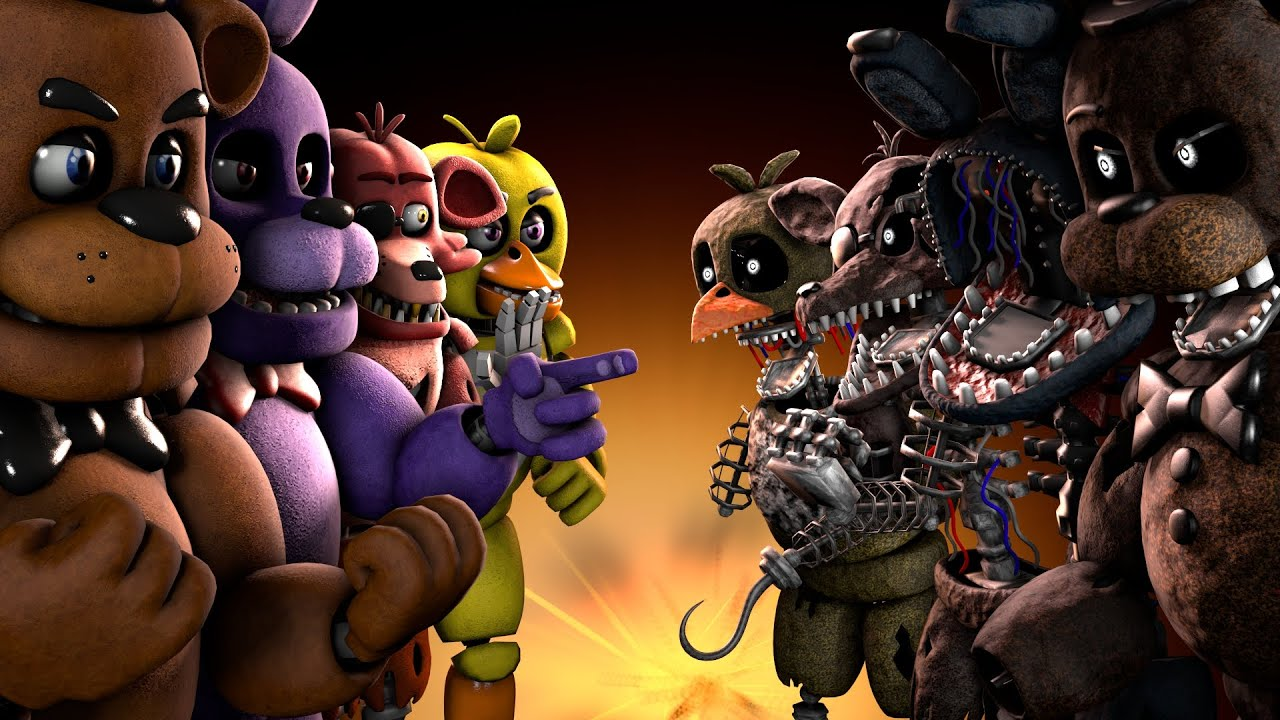 SFM FNAF  Ignited VS  Five Nights s at Freddy s   YouTube  SFM FNAF  Ignited VS  Five Nights s at Freddy s   YouTube
