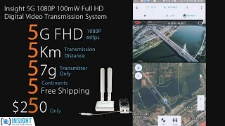 Insight 5G 1080P FHD Digital Video Transmission system Fly Test Footage