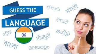 Guess the Language : India edition