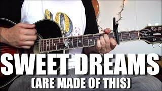 Sweet Dreams (Are Made of This) - Eurythmics - Guitar Tutorial