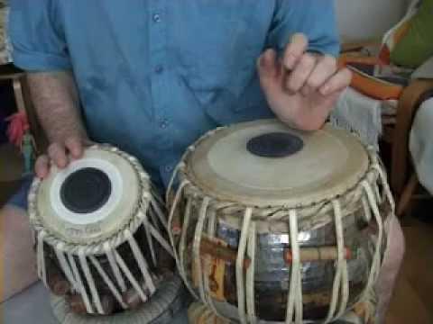White India - Tabla Lesson 1 - Kaida, Tehai & Chakradar & how to bend the bayan technique