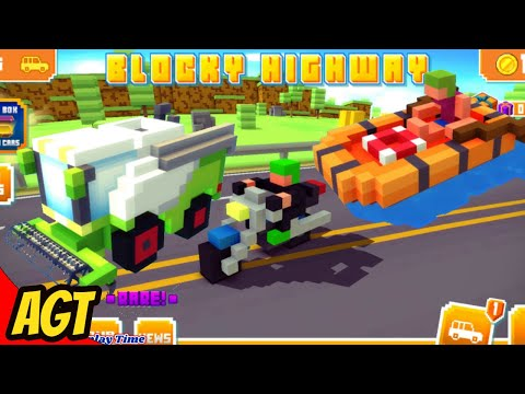 Blocky Highway Traffic Racing - B-Rod Life Boat and Combine - Android Gameplay