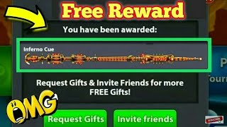 8 Ball Pool Get Free { Inferno Legendary Cue } For New Reward