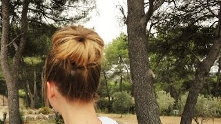 Chignon Haut Cheveux Courts - High Bun on Short Hair