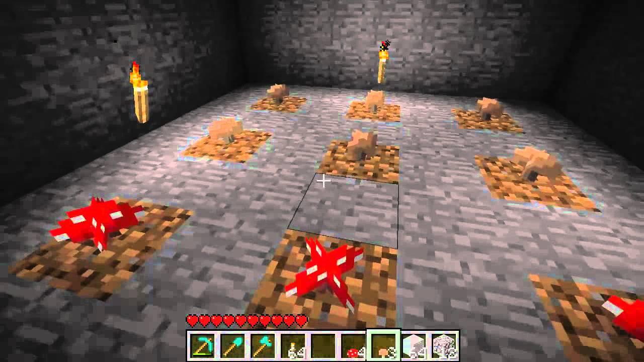 Basic Mushroom Farm Tutorial Minecraft Youtube
